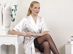 Brobdingnagian elegant dame Ariel is stripping and telling erotic untrue  myths