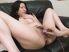 Hairy pussy oriental wholesale is pleasured