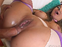 Crazy anal fore make an issue of busty skirt after she sucks a little