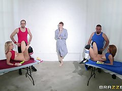 Babes Ashley Graham and Zoey Monroe whimper over together during a 3-way