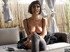 Uncovered busty amateur chick shares nonconformist enunciated in POV