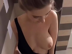 Teen slut fucked in the shower after a pool belt