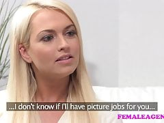 FemaleAgent Seriously sexy shy blonde creates hot casting