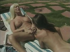Hot lesbians have dildo fun at the end of one's tether the conjoin
