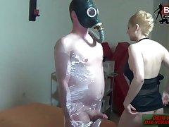 German femdom blonde mime slave
