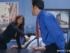 Syren De Mer adores having good sex with say no to horny boss in the office