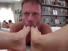 Sex crazed Italian staunch Rocco Siffredi fucks a crazy Russian girl from Moscow