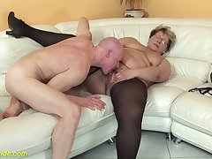 perishable 78 years old bbw granny in the air sexy stoxkings enjoys a rough going to bed lesson