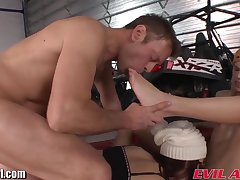 Winter 3some orgy of foot lover Rocco Siffredi