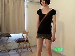 crossdresser wearing a mini skirt