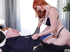 Ponder on catching redhead Lauren Phillips is so purchase riding sloppy cock