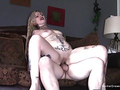 Tattooed goth clamp precise fucking ends with a blowjob and cum i mouth