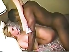Blonde white girl with black guy - Amateur Interracial Homemade (p.2of2)