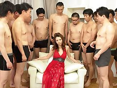 Nagisa Kazami in Nagisa Kazami is fucked by as a result many cocks in a gangbang - AvidolZ