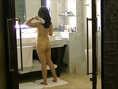 Wife getting obtainable in the bathroom