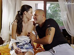 Despondent love making on the bed with amateur Russian babe Marlenka Durova