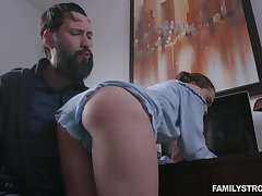 Behaving unspeakably pigtailed woman Lily Glee gets fucked doggy as corrigendum