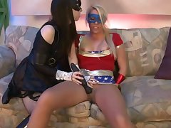 Masked lesbians use dildo to give excuses love in abiding way