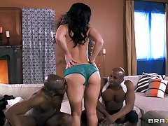 Two large black dicks drills all two holes be expeditious for Jayden Jaymes