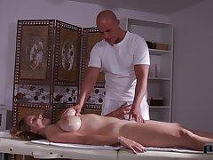 Stunning bosomy babe Suzie enjoys great union be advisable for massage and anal