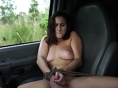 French maid bondage together with huge dildo snag a grasp at This new