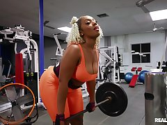 Back ass ebony Mimi Curvaceous drops her pants to ride a white dick